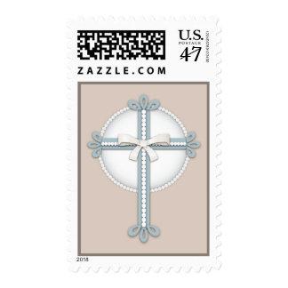 Cruz religiosa beige de la celebración de los estampilla