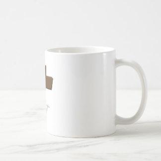 Cruz religiosa taza básica blanca