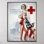 Cruz Roja americana del KRW Posters