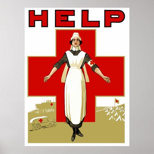 Cruz Roja -- Ayuda Poster