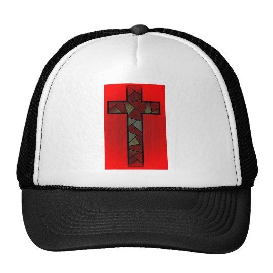 Cruz roja coloreada del resplandor gorras