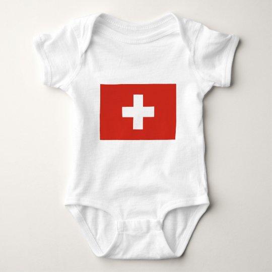 Cruz Roja de la bandera suiza Body Para Bebé