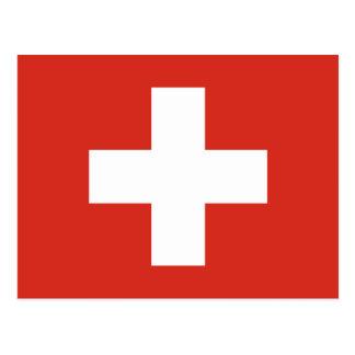 Cruz Roja de la bandera suiza Tarjetas Postales