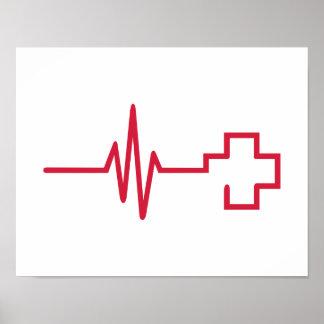 Cruz Roja de la frecuencia Póster