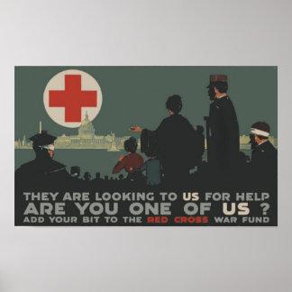 Cruz Roja de la Primera Guerra Mundial Póster