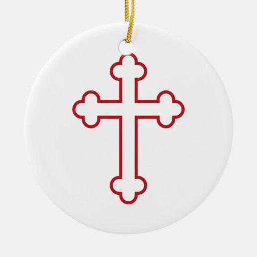 cruz roja de los apóstoles o cruz florecida adornos de navidad