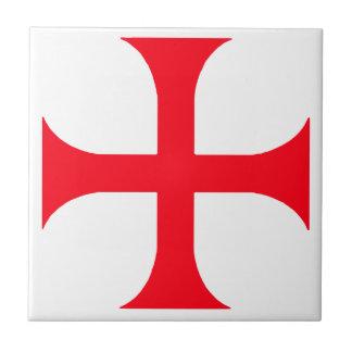 Cruz Roja de Templar Azulejo Cuadrado Pequeño