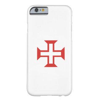 Cruz roja de Templar Funda De iPhone 6 Barely There