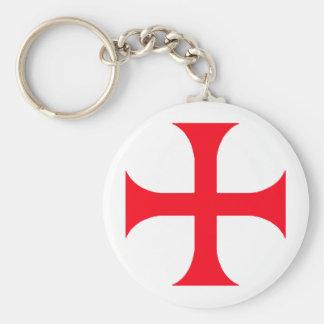 Cruz Roja de Templar Llavero Redondo Tipo Pin