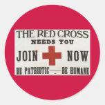 Cruz Roja Etiquetas Redondas