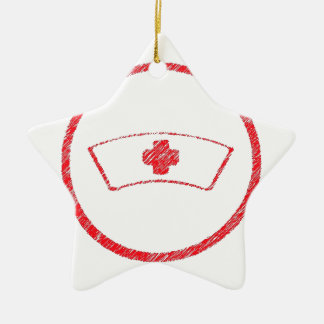 cruz roja médica de la enfermera del ER del Adorno De Cerámica En Forma De Estrella