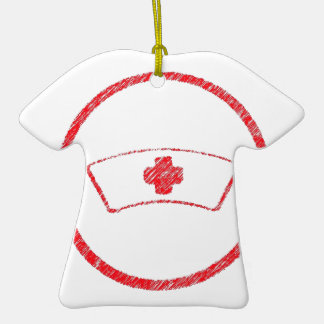 cruz roja médica de la enfermera del ER del Adorno De Cerámica En Forma De Playera