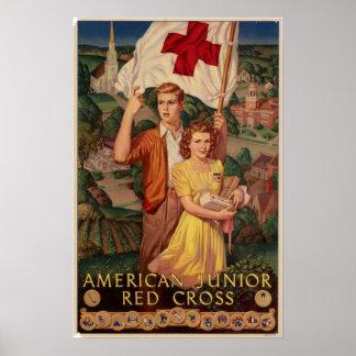 Cruz Roja menor americana Póster