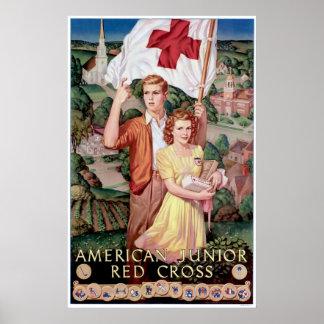 Cruz Roja menor americana Posters
