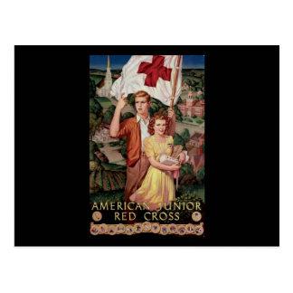 Cruz Roja menor americana Tarjeta Postal