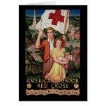 Cruz Roja menor americana Tarjeton
