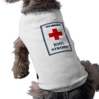 Cruz Roja -- Pertenecemos el 100% fuerte Playera Sin Mangas Para Perro