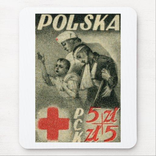 Cruz Roja polaca 1947 Tapetes De Raton