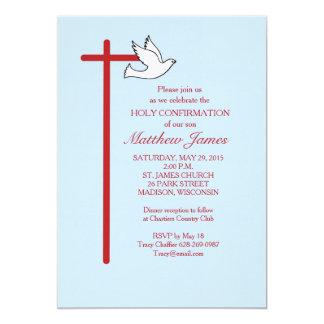 Cruz Roja y paloma, Lt Blue de la invitación de la