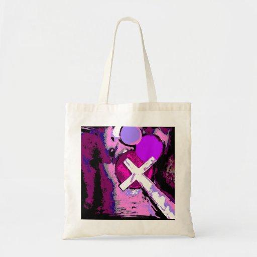 Cruz rosada bolsa tela barata