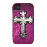 Cruz rosada Case-Mate iPhone 4 carcasa