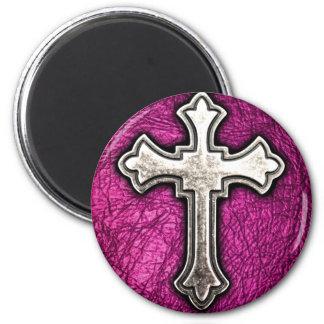 Cruz rosada imanes