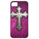 Cruz rosada iPhone 5 Case-Mate carcasa