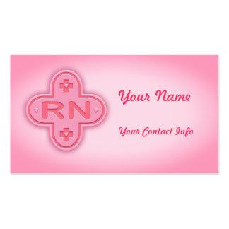 Cruz rosada tarjetas de visita