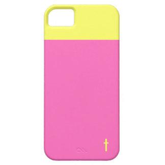 Cruz rosada y amarilla iPhone 5 protector