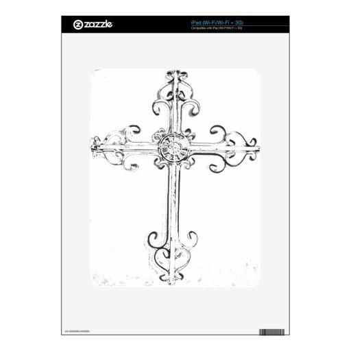 cruz rugosa iPad calcomanías