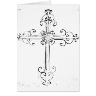 cruz rugosa tarjeta de felicitación