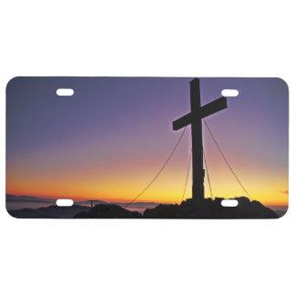Cruz santa de la cumbre placa de matrícula