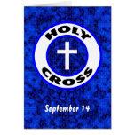 Cruz santa tarjeta de felicitación