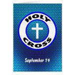 Cruz santa tarjetón