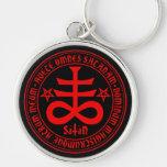 Cruz satánica con la inscripción de Satan del salu