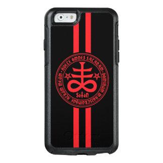 Cruz satánica con la inscripción latina funda otterbox para iPhone 6/6s