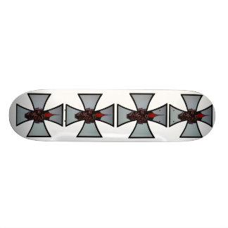 Cruz Sk8board del hierro de la MILICIA del MOHAWK Tabla De Patinar