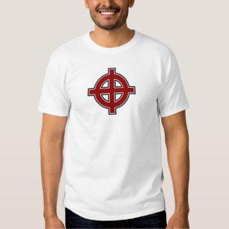 Cruz solar (roja, blanco y negro) remera