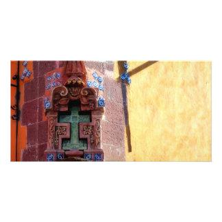Cruz tallada, San Miguel, México, tarjeta de la fo Tarjeta Personal