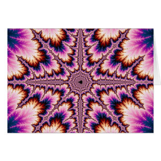 Cruz - tarjeta rosada del fractal