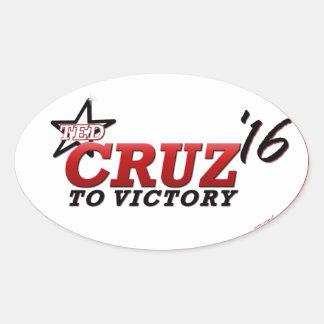 CRUZ TO VICTORY 2016 OVAL STICKER