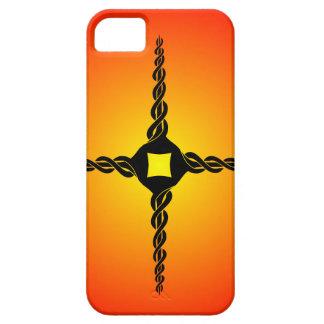 Cruz torcida iPhone 5 funda