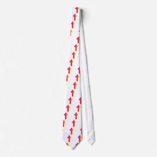 cruz tridimensional del arco iris corbata personalizada