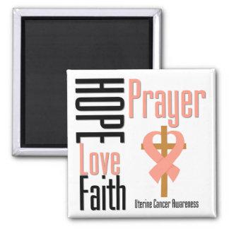 Cruz uterina del rezo de la fe del amor de la espe imán de nevera