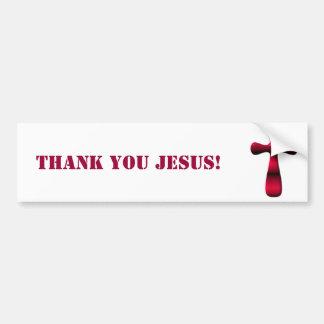 Cruz vacía de Pascua de la resurrección de Jesús Pegatina Para Auto