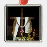 Cruz vacía de Pascua de la resurrección de Jesús Ornamento De Navidad