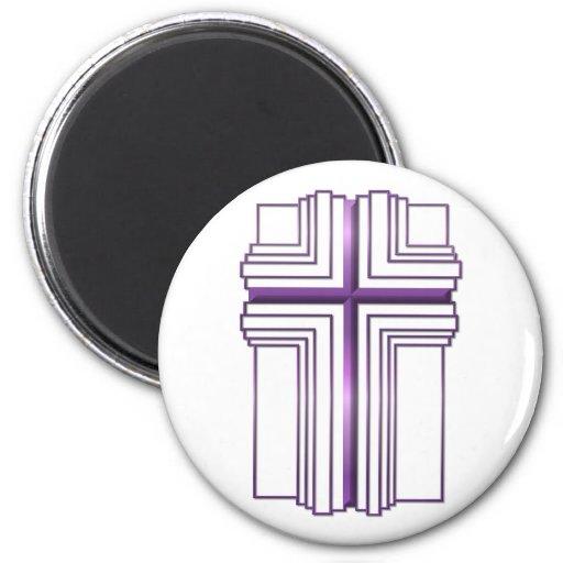 Cruz vacía de Pascua de la resurrección de Jesús Imán