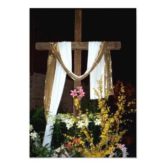 """Cruz vacía de Pascua de la resurrección de Jesús Invitación 5"""" X 7"""""""