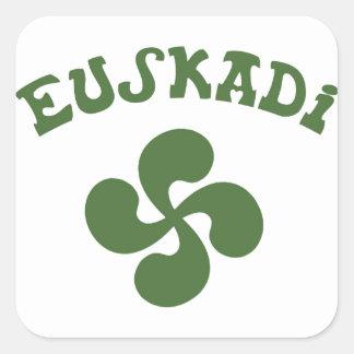 Cruz Vasca Euskadi Pegatina Cuadrada