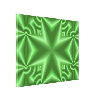 Cruz verde abstracta lona estirada galerías